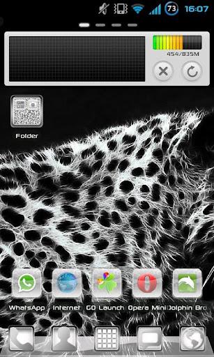 White Leopard GO Launcher EX