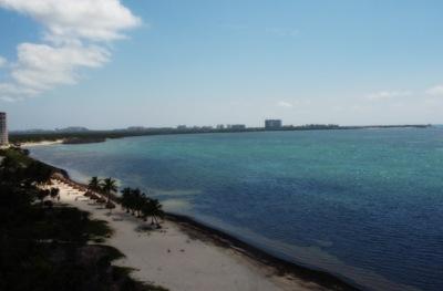 Cancun visto das alturas