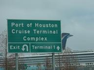 Chegada ao terminal de cruzeiros de Houston.