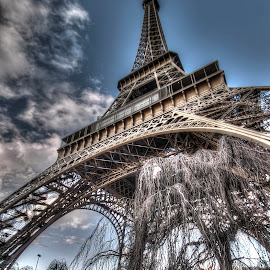 Eiffel Tower 2 by Ben Hodges - Buildings & Architecture Statues & Monuments ( paris, eiffel tower, europe, hdr, cloud, france, travel )