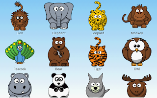 Screenshot of Learning Animals