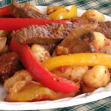 Aussie Beef and Peppers with Gnocchi