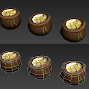 sack of gold coins (2 versions)