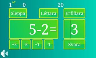 Screenshot of íslenska ReikniLeikni