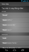 Screenshot of XFINITY TV X1 Remote