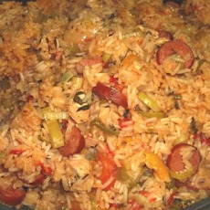 Spicy Cajun Chicken and Sausage Jambalaya