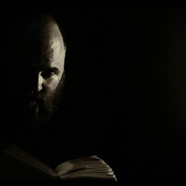 Reading by Tracey Ann - People Portraits of Men