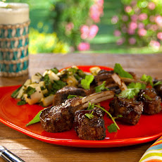 Spice Rubbed Lamb Chops Hoisin and with Grilled Bok Choy Salad