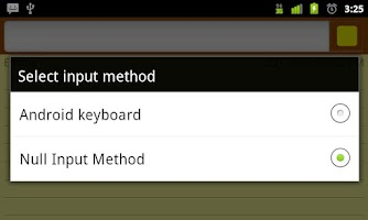 Screenshot of Null Input Method