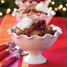 Apple-Berry Cobbler with Vanilla Bean Hard Sauce