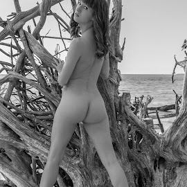 Ivy in the Trees by Brian Wass - Nudes & Boudoir Artistic Nude ( nude, black and white, 2014, florida, butt )