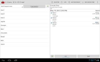 Screenshot of Shopping Basket Free
