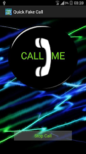 Quick Fake Call - screenshot