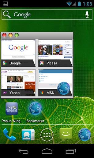 M-OS skin for Popup Widget