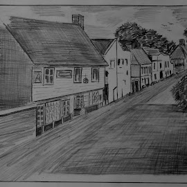 A Little Village by Sumit Nath - Drawing All Drawing