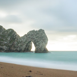 Durdle Door by Dave Dodge - Novices Only Landscapes ( sunrise, durdle door, dorset )