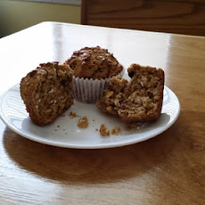 Peanut Butter And Chocolate Chip Oat Muffins