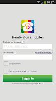 Screenshot of Hemtelefon i mobilen