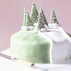 Frosty Forest Cake