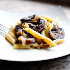 Pasta with Whiskey, Wine, and Mushrooms