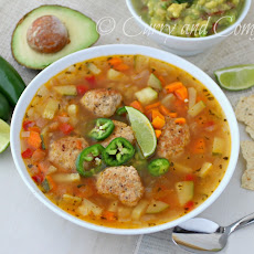 Mexican Meatball Soup (Albondigas) Low Carb Version