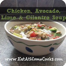 Chicken, Avocado, Lime, and Cilantro Soup