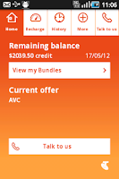 Screenshot of My Pre-Paid