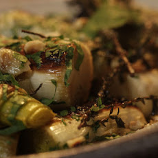Braised Leeks With Hazelnuts