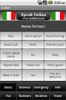 Screenshot of Speak Italian