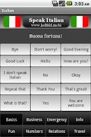 Screenshot of Speak Italian
