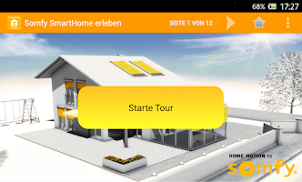 Screenshot of Somfy-SmartHome erleben