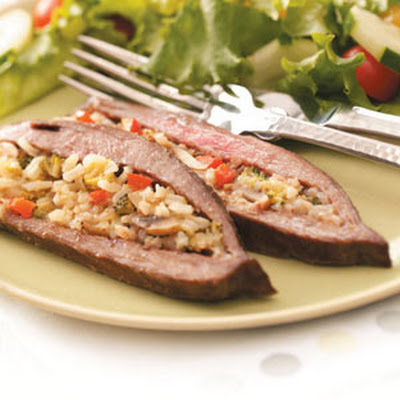 Rice-Stuffed Flank Steak Recipe