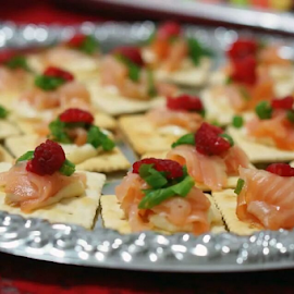 salmon crackers by Alice Chia - Food & Drink Plated Food (  )