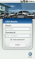 Screenshot of CES Mobile