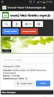 Screenshot of Second-Hand-Kleinanzeigen.de