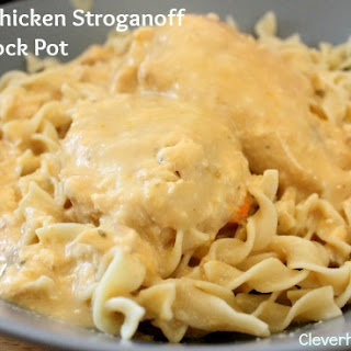 Cheesy Chicken Stroganoff Crock Pot