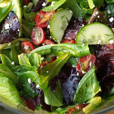 Simple Greek Salad with Lemon- Oregano Vinaigrette