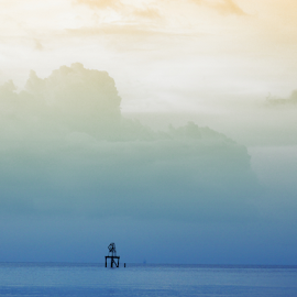 beyond that sky by Rumi Kay - Landscapes Cloud Formations ( sky, blue, penang, cloud, beach, beyond )