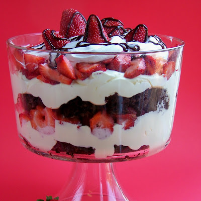 Strawberry Brownie Trifle