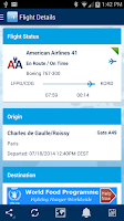 Screenshot of FlightAware Flight Tracker