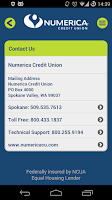 Screenshot of Numerica Mobile Banking