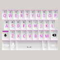 White and Pink Keyboard Skin