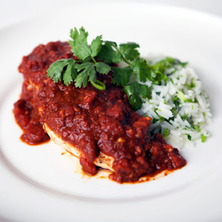 Chicken Mole with Green Rice