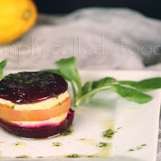 Beets And Hummus In Layer