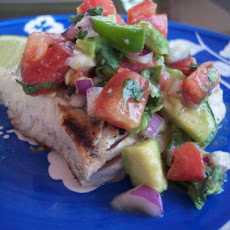 Grilled Mahi Mahi With Avocado Salsa