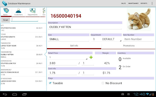 CrossStreet Point of Sale PoS - screenshot