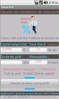 Screenshot of Calcul Prêt & Crédit - Gratuit