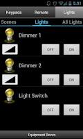 Screenshot of Pocket Keypad for Control4®