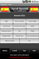 Screenshot of Speak Spanish Free
