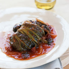 Sweet-and-Sour Stuffed Mustard Cabbage